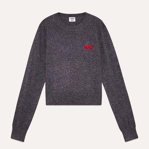 Aritzia Sunday Best Abby cherry Sweater